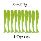10pcs Easy Shiner Silicone Worms Soft Baits 5cm 0.7g Jigging Wobblers Fishing Lures Artificial Swimbaits For Bass Carp Tackle