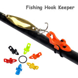 Fishing Accessories Fishing Hook Keeper Fishing Lure Bait Holder Fixed Jig Hooks Safe Keeper for Fishing Rod Pole Fishing Tools