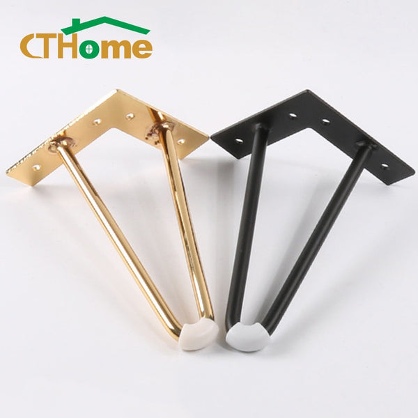 4pcs 10cm-40cm iron table Legs for metal furniture foot black gold chair sofa bed hairpin desk leg cabinet feet to the dresser