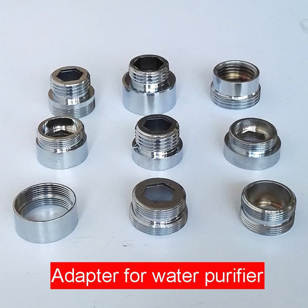 "1pc Chrome Brass Faucet Aerator Adapter Male Female M22 M24 G1/2"" 3/4"" Pipe Fittings Water Purifier Accessories M16 18 20 28"