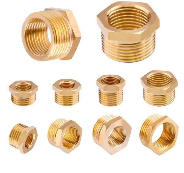 "Brass Hose Fitting Hex Reducer Bushing M/F 1/8"" 1/4"" 3/8"" 1/2"" 3/4"" BSP Male to Female change Coupler Connector Adapter"