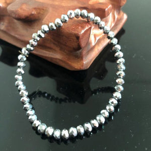 Handmade Women's 4mm Rhinestone Crystal Beaded