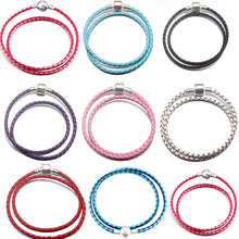 Load image into Gallery viewer, BAOPON High Quality 9 Colors Leather Charm Bracelets