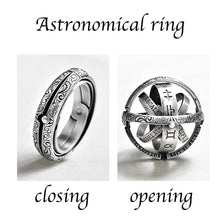 Load image into Gallery viewer, Silver Astronomical Ring for men women metal ball Creative Complex Rotating Cosmic Finger mood ring men fashion jewelry gifts