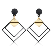 Load image into Gallery viewer, X&P New Korean Heart Statement Drop Earrings 2019 for Women Fashion Vintage Geometric Acrylic Dangle Hanging Earring Jewelry