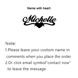 Personalized Name Necklace Stainless Steel Charm Custom Name Jewelry Any Name 11 Font Style To Choose For Girls Kids