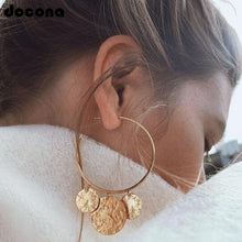 Load image into Gallery viewer, Docona Luxury Gold Silver Earrings for Women