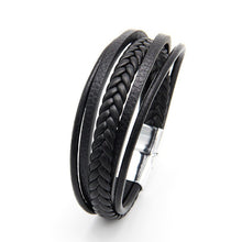 Load image into Gallery viewer, Bracelet Men Multilayer Leather