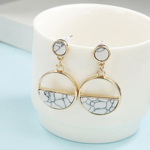 2019 New Women's Earrings, Color Metal Simple Charm