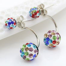 Load image into Gallery viewer, Crystal Ball, Dangle Earrings Anti Allergy Multicolor Multiple Wearing