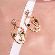 Load image into Gallery viewer, New Fashion Round Dangle Drop Korean Earrings For Women Geometric Round Heart Gold Earring Wedding 2019 double eleven Jewelry