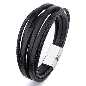 Bracelet Men Multilayer Leather
