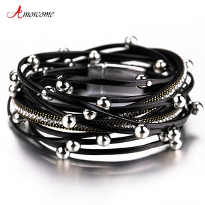 Multilayer Leather Bracelets For Women 2019