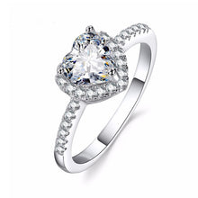 Load image into Gallery viewer, KISS WIFE Classic Engagement Ring 6 Claws Design AAA White Cubic Zircon Female Women Wedding Band CZ Rings Jewelry
