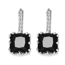 Load image into Gallery viewer, MISANANRYNE Silver-color CZ Zircon Drop Earring For Women Fashion Wedding Earrings 9 Colors Jewelry Brincos Pendientes