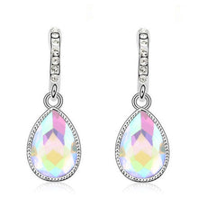 Load image into Gallery viewer, Silver Plated Crystal long Earrings