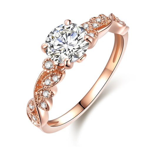 New Rose Gold Color Ring. Thin Rings