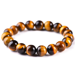 Minimalist Natural Stone Beads Tiger Eye Bracelet 4 Size Beaded Mens Buddha Braclet For Male Yoga Handmade Jewelry Homme Bijoux