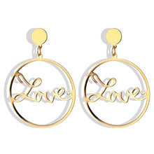 Load image into Gallery viewer, 17IF Big Circle Earrings LOVE For Women, Geometric Round