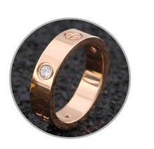 Load image into Gallery viewer, Rose Gold Stainless Steel Ring With Crystal For Woman Jewelry Rings Men Wedding Promise Rings For Female Women Gifts Engagement