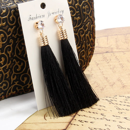 Berbeny Long Crystal Earrings For Women