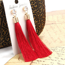 Load image into Gallery viewer, Berbeny Long Crystal Earrings For Women