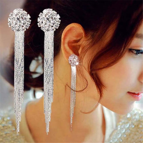 EK742 Korean Jewelry, Long Earrings For Women