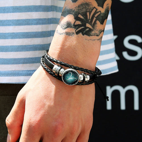 12 Constellation Luminous Bracelet Men