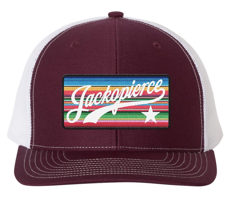 JP Colored Patch Trucker - Maroon/White Pre-order