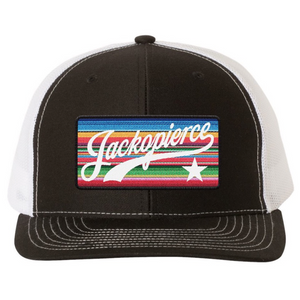 JP Colored Patch Trucker - Black/White
