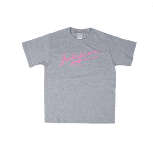 JP Youth Tee - Grey/Pink
