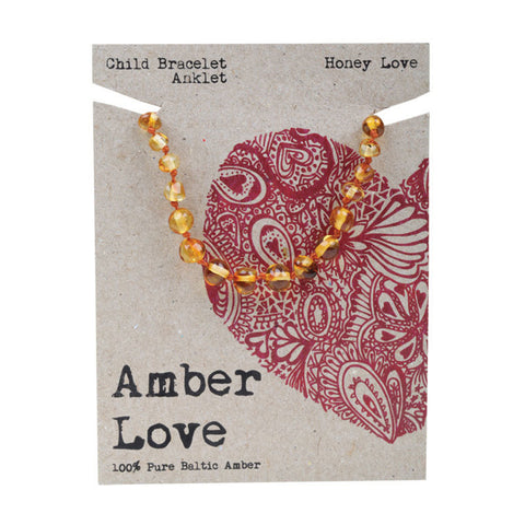 AMBER LOVE - Amber Child Anklet Honey