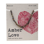 AMBER LOVE - Amber Child Necklace Olive