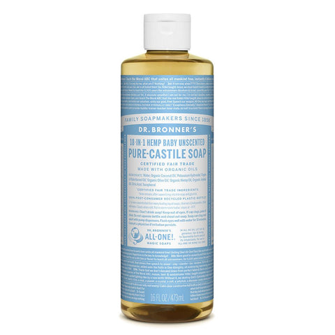 Dr Bronner - Baby Unscented Castile Soap 473ml