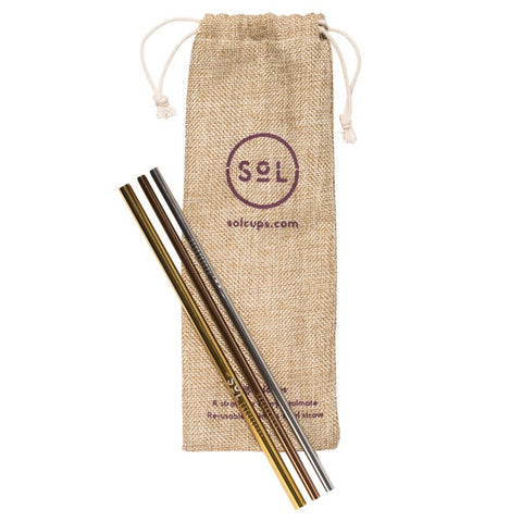 SOL Straw Kit x3 with brush