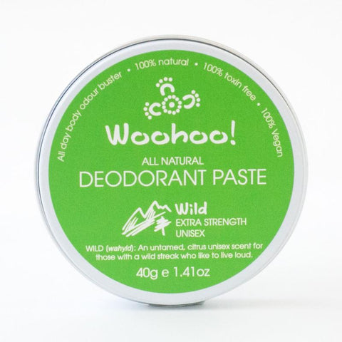 WooHoo Deodorant Paste Wild Extra Strength Tin