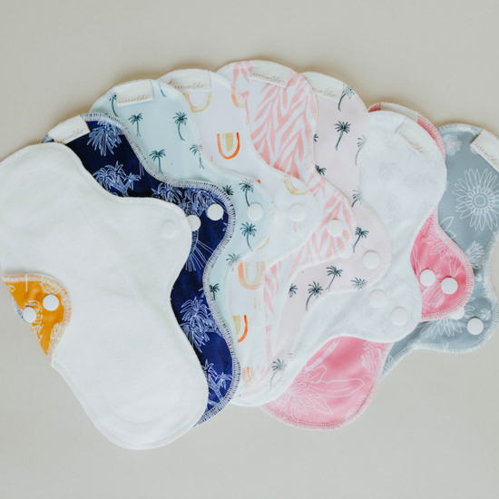 BARE + BOHO Organic Cotton Cloth Pad - Medium Rainbow Gold