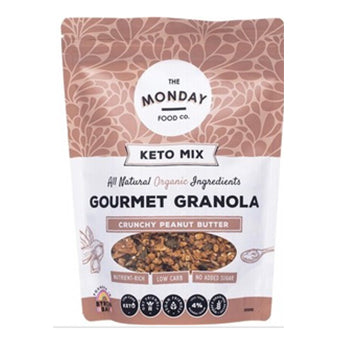 MONDAY FOOD CO Keto Granola Crunchy Peanut Butter 300g
