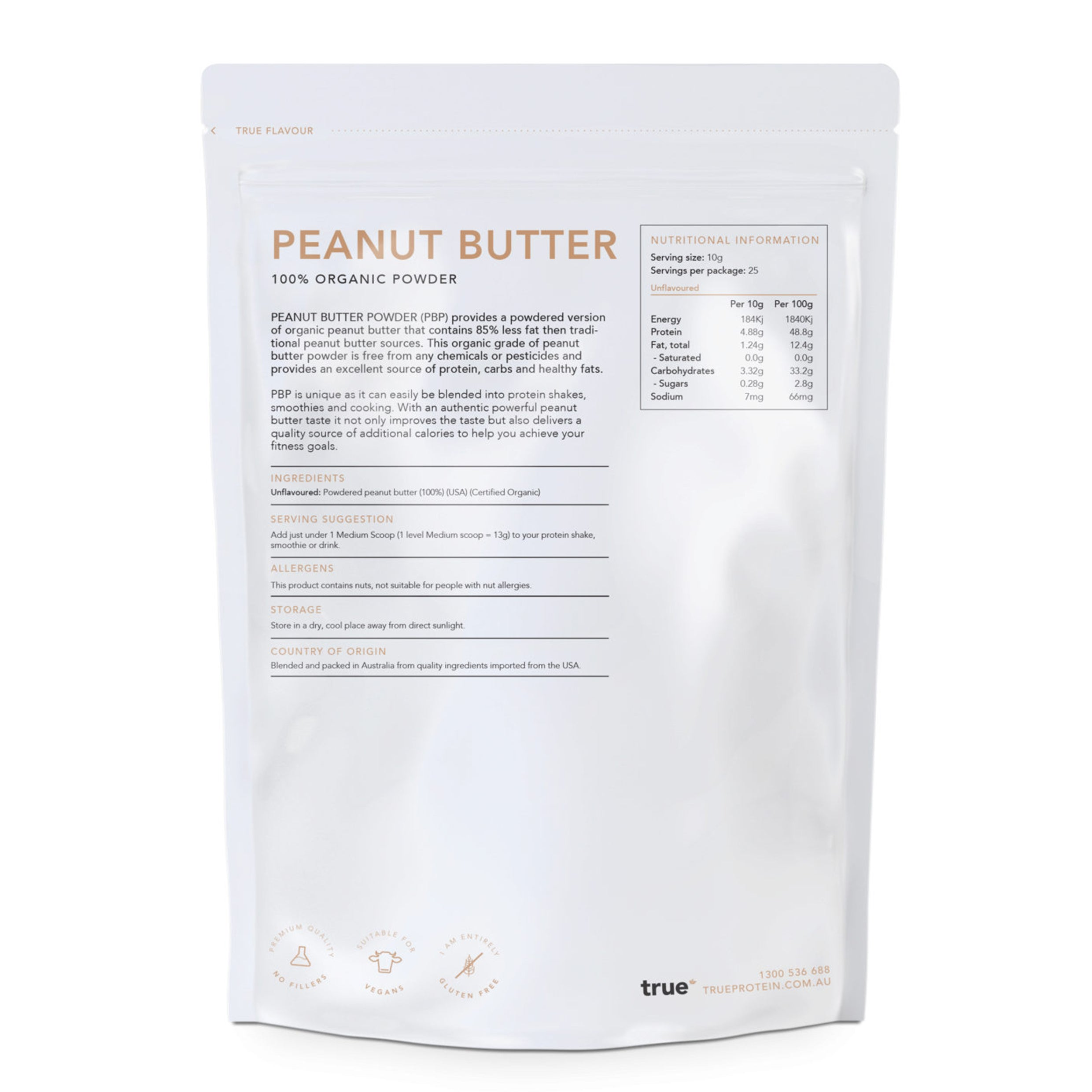 TRUE - Peanut Butter Powder 250g