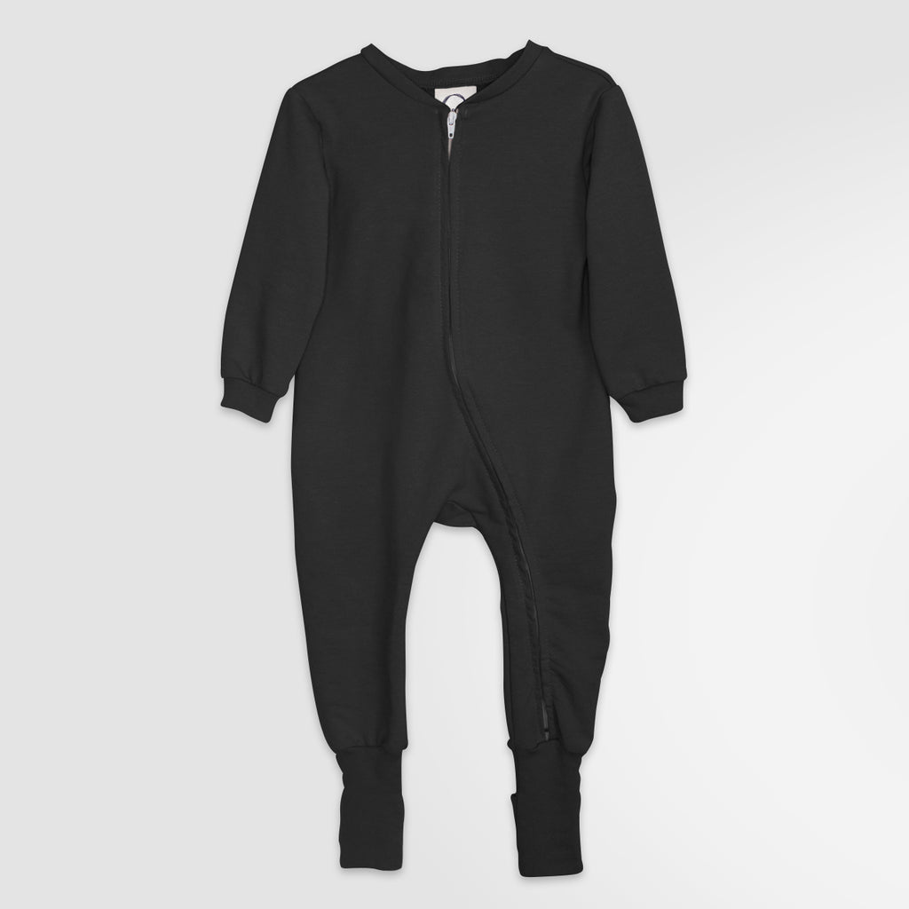 2-in-1 zip pyjama | Black