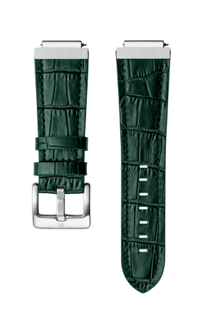 PR LEATHER WATCHBAND - SILVER GREEN