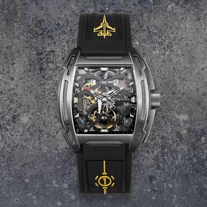 CIGA DESIGN Z031-TITI-W150G AIRCRAFT CARRIER AUTOMATIC MECHANICAL SKELETON WRISTWATCH