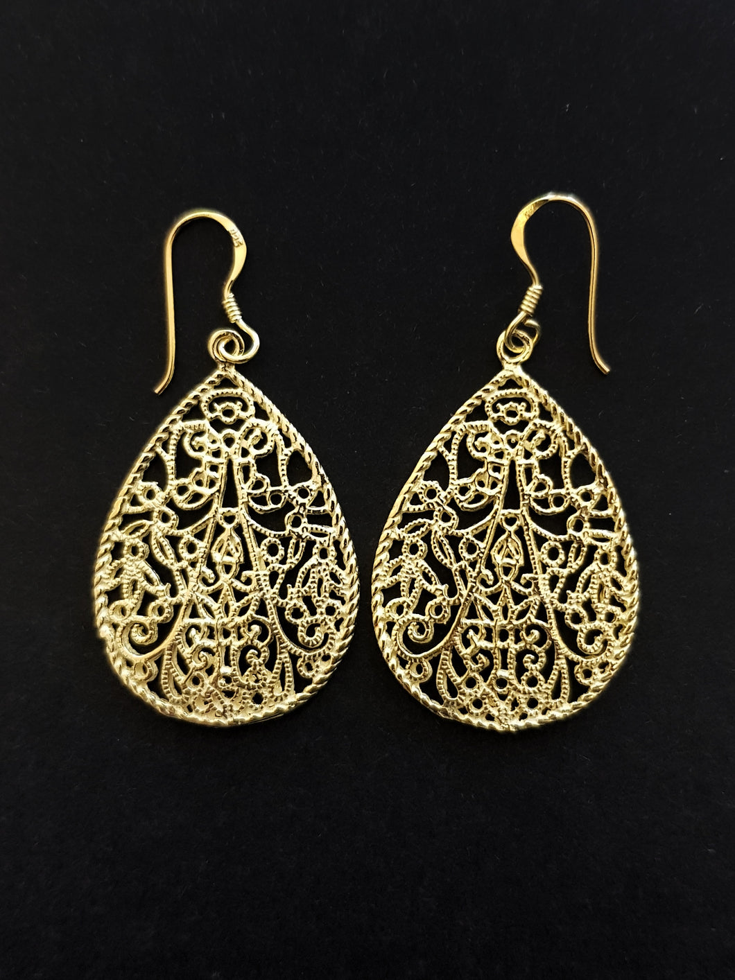 Gold Plated Filigree Earrings