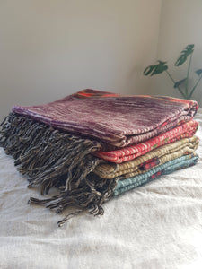 Yak Wool Shawl - Purple