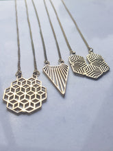 Load image into Gallery viewer, Brass Geometric Necklace