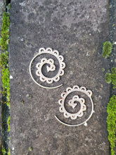 Load image into Gallery viewer, 30mm Silver Filigree Spiral Earrings