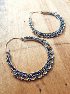 Alexandra Statement Earrings - Silver Plated
