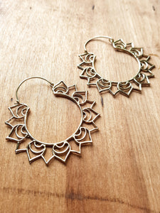 Aster Statement Earrings - Brass