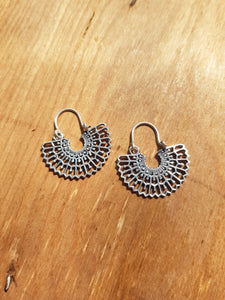 Silvia Earrings - Silver Plated Brass