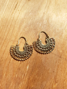 Silvia Earrings - Brass